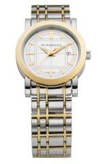 Burberry Womens Swiss Two Tone Stainless Steel Bracelet 30mm - Lyst