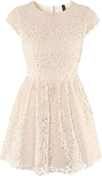 H&m Dress in Beige - Lyst