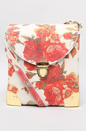 Jeffrey Campbell The Later Bag in Ivory Coral Floral - Lyst