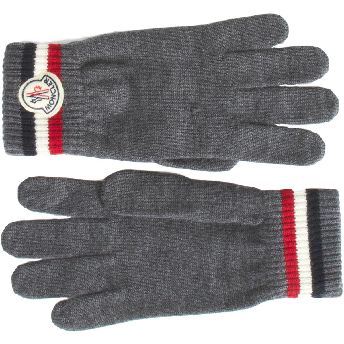 grey moncler gloves