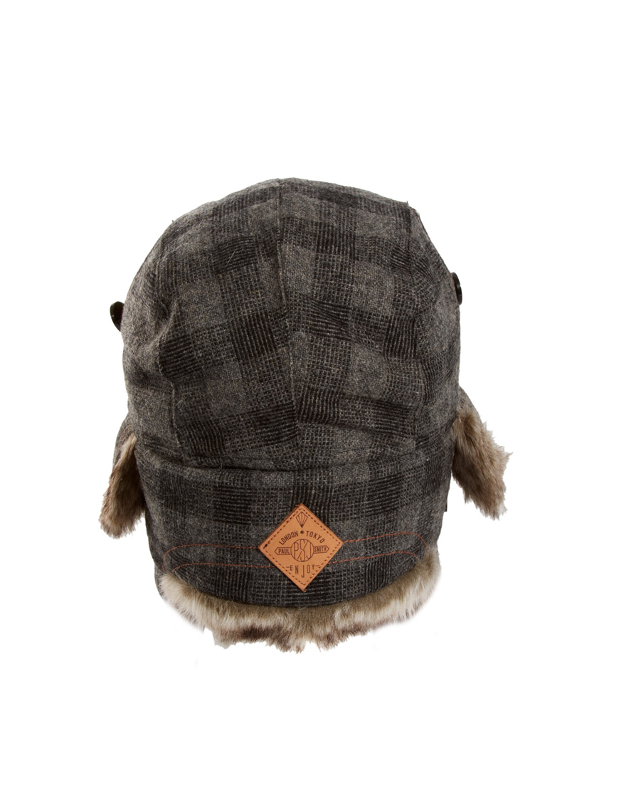 f8acdd269ee8a8 Paul Smith Trapper Hat in Gray for Men - Lyst