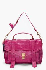 Proenza Schouler Ps1 Medium Purple Satchel in Pink (purple) - Lyst
