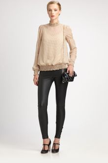 RED Valentino Leather Leggings - Lyst