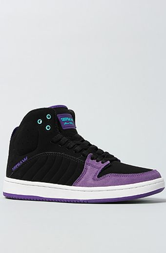 Supra The S1w Sneaker in Black Trubuck Purple Suede White - Lyst