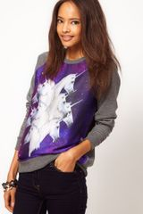 ASOS Collection  Sweatshirt with Galactic Horses - Lyst