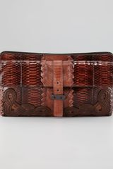Bottega Veneta Canyon Foldover Clutch - Lyst