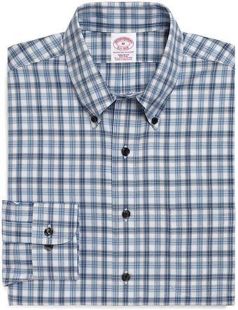Brooks Brothers Noniron Regular Fit Alternating Split Tattersall Sport Shirt - Lyst
