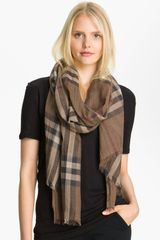 Burberry Giant Check Print Scarf - Lyst