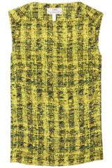 Erdem Ida Printed Top in Yellow - Lyst