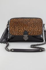 Eric Javits Leopard Calf Hair Zip Shoulder Bag - Lyst