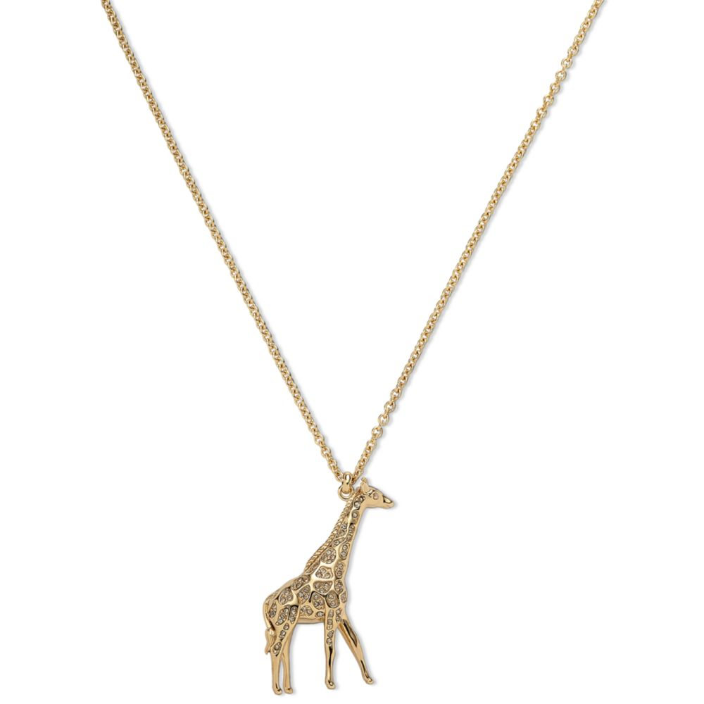 gold heart necklace giraffe on love animal pendant simple original outline products charm in
