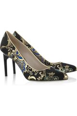 Jason Wu Lily Leather Trimmed Brocade Pumps