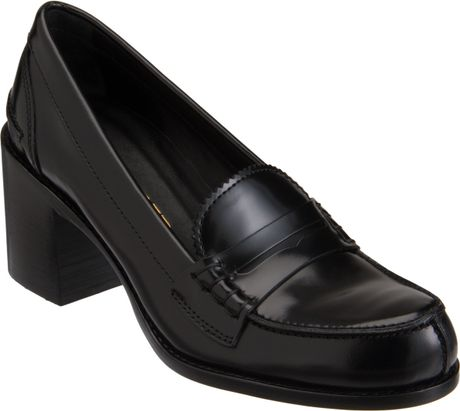 Jil Sander Midheel Penny Loafer in Black - Lyst