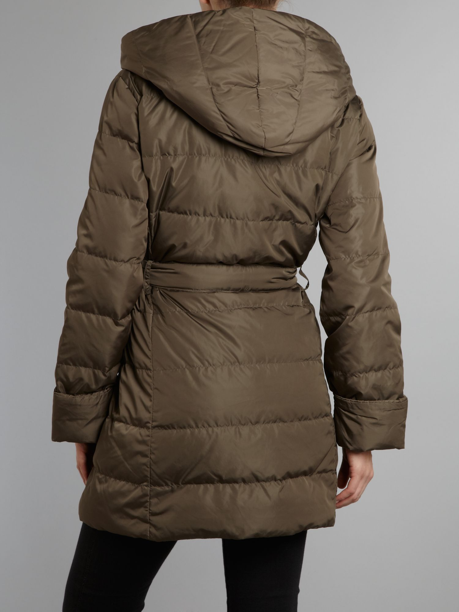 Weekend by maxmara Orel Padded Coat with Belt in Brown | Lyst