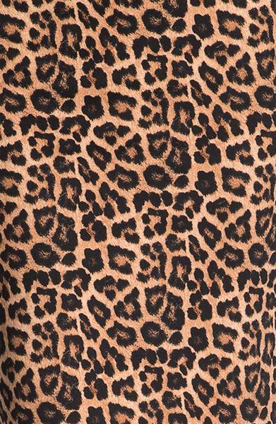 Michael michael kors jaguar print ponte skirt in brown for Leopard print wallpaper