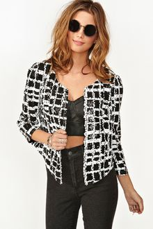 Nasty Gal In Check Sequin Jacket - Lyst