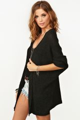 Nasty Gal Caroline Knit Cardi Charcoal in Gray (charcoal) - Lyst