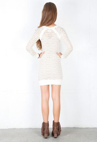 Nightcap Clothing Lace Raglan Dress - Lyst