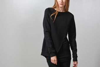 Oak Split Front Pullover Black - Lyst