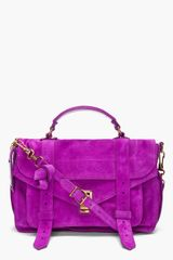 Proenza Schouler Ps1 Medium Purple Suede Satchel in Purple - Lyst