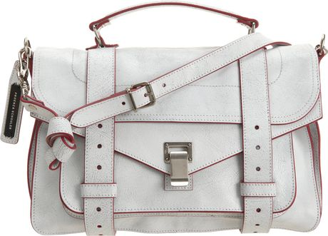 Proenza Schouler Ps1 Crackle Satchel in White (red) - Lyst