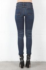Rag & Bone Skinny Jean in Wonderland in Blue - Lyst