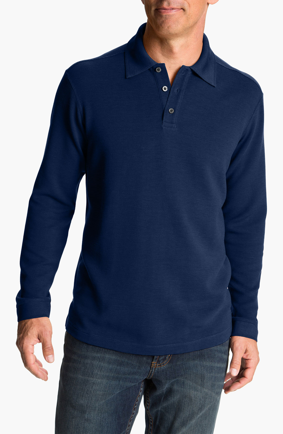Tommy bahama saturday night long sleeve silk cotton polo for Tommy bahama long sleeve dress shirts
