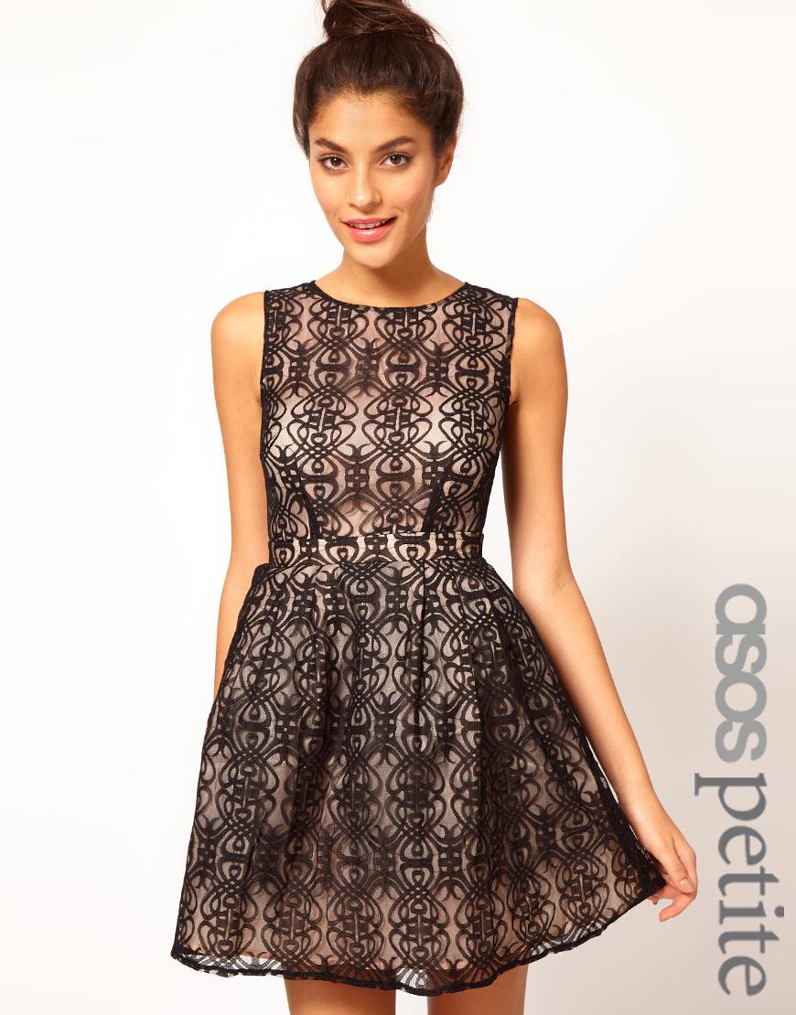 Black lace cut out back dress