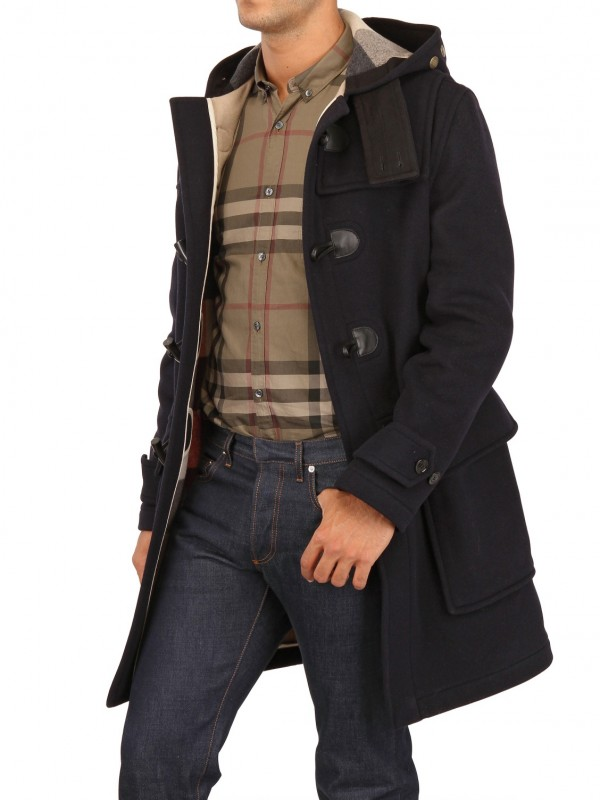 Lyst Burberry Brit Double Wool Felt Montgomery Coat In