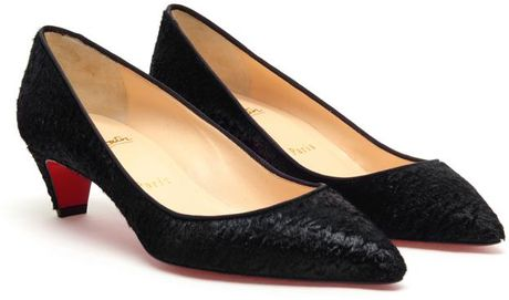 Christian Louboutin Pigalle Textured Ponyskin Pumps in Black - Lyst