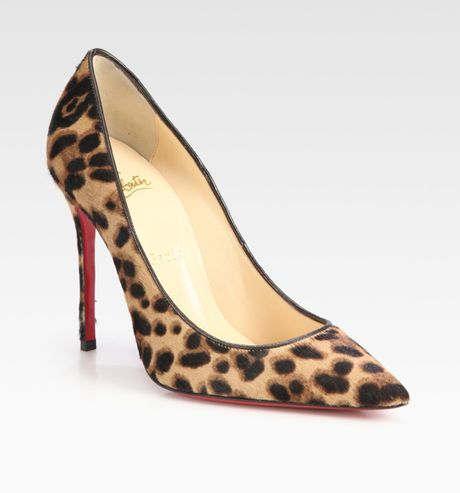 Christian Louboutin Decollete Leopardprint Pony Hair Pumps in Animal (leopard) - Lyst