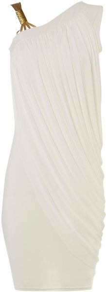Jane Norman Gold Strap Dress - Lyst