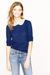 J.Crew Peter Pan Collar Sweater - Lyst
