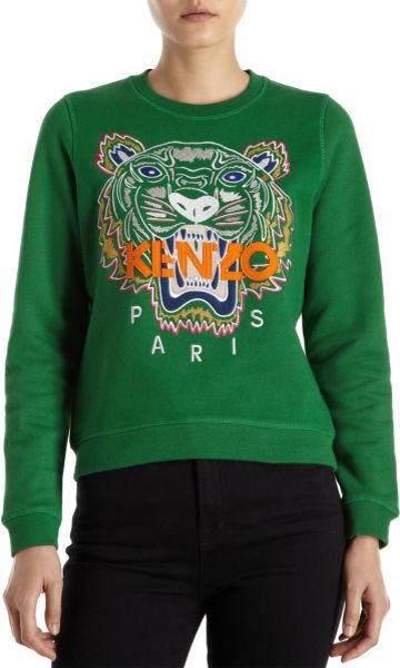 Kenzo Tiger Sweater in Green (tiger)