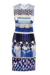 Mary Katrantzou Check Foam Bubbleprint Dress - Lyst