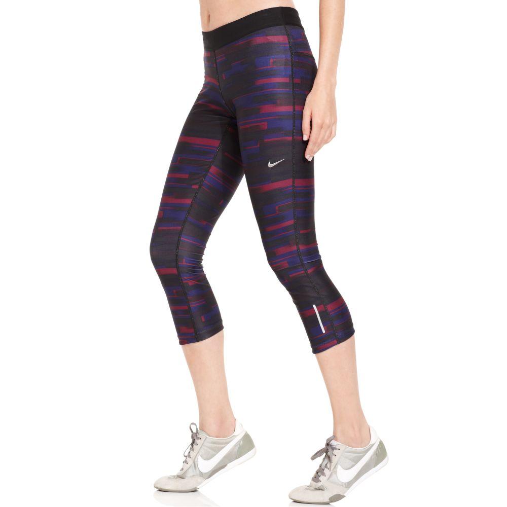 Nike Relay Printed Active Capri Leggings in Multicolor | Lyst