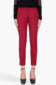 Theory Red Danya Tailor Trousers - Lyst