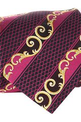 Versace Diamond Scroll Tie - Lyst