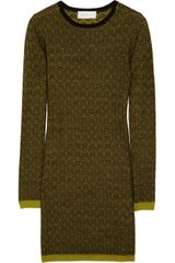 A.L.C. Clea Wool Jacquard Sweater Dress - Lyst