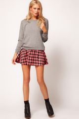 ASOS Collection Asos Skater Skirt in Coated Dogtooth - Lyst