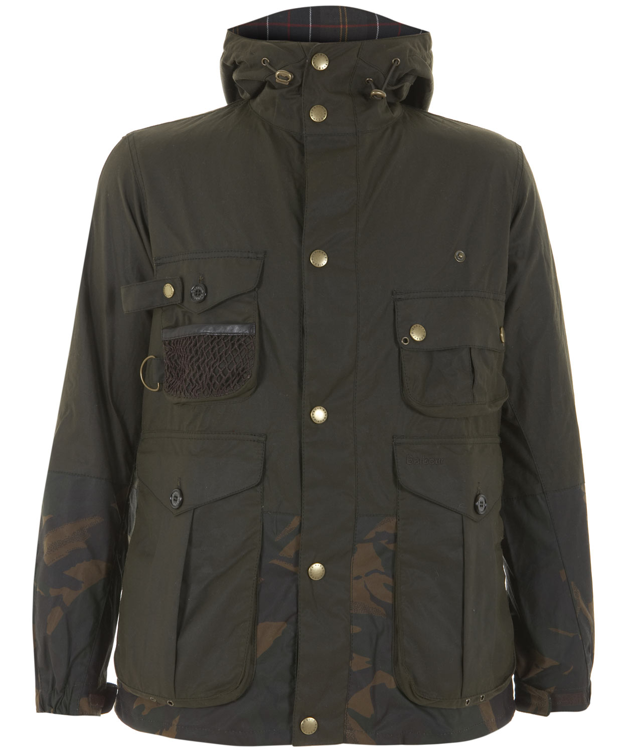 Barbour Olive Camo Fishing Jacket In Green For Men Olive