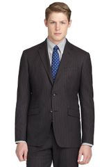 Brooks Brothers Milano Fit Mini Stripe Suit in Brown for Men (dark-brown) - Lyst