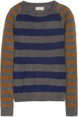 Chinti And Parker Striped Cashmere Sweater in Blue (gray) - Lyst