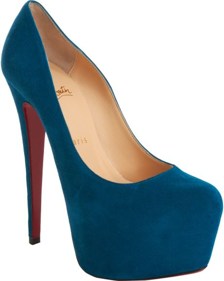 Christian Louboutin Daffodile in Blue (peacock) - Lyst