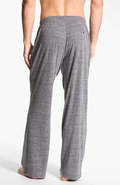 Daniel Buchler Heathered Lounge Pants In Gray For Men