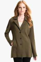 Eileen Fisher Notch Collar Long Jacket - Lyst