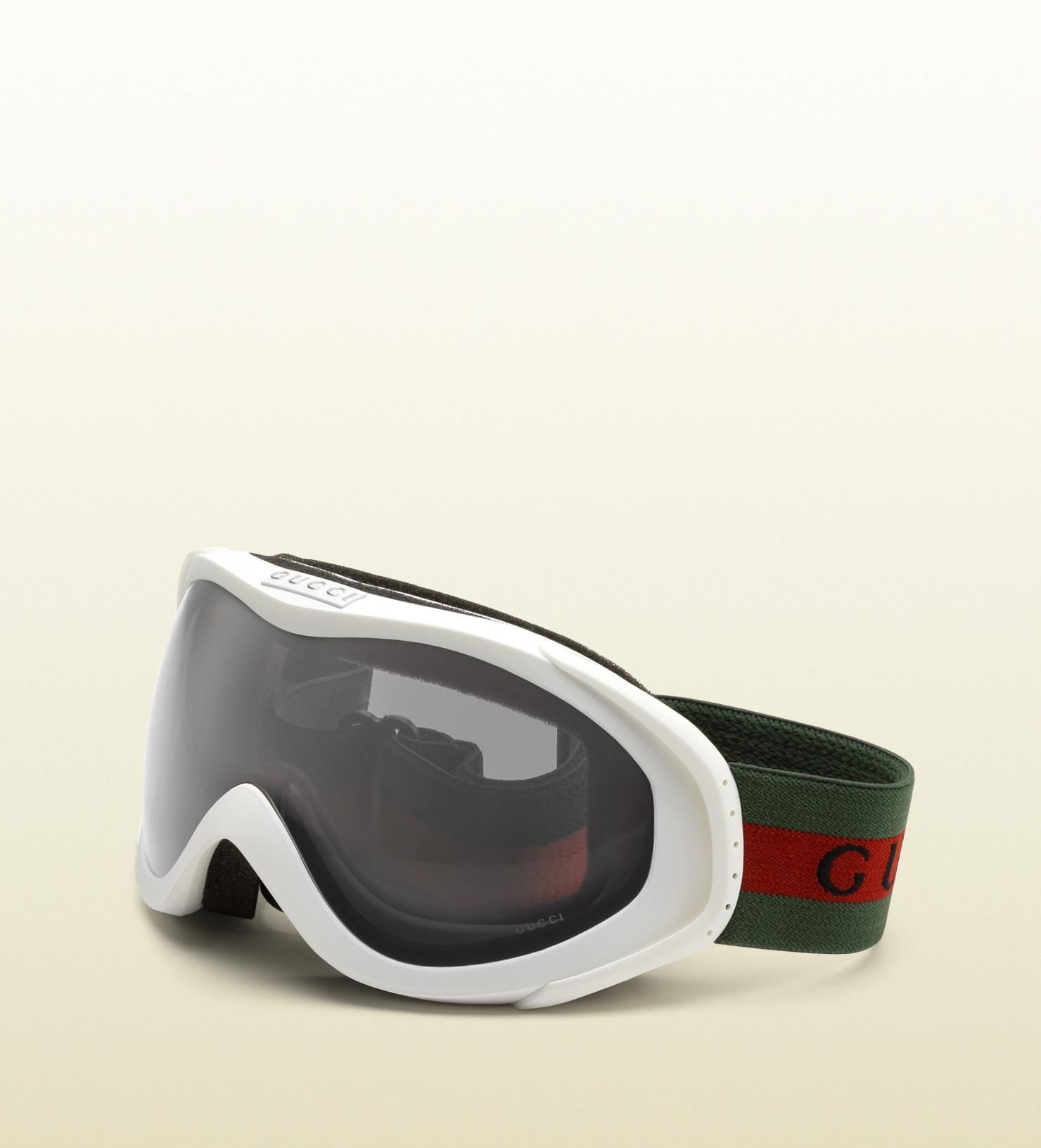 61106a7beb7 Lyst - Gucci White Ski Goggles in Green for Men