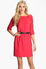 Michael by Michael Kors Belted Dress - Lyst