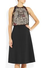 Preen Eve Embellished Stretchtwill Dress in Black - Lyst