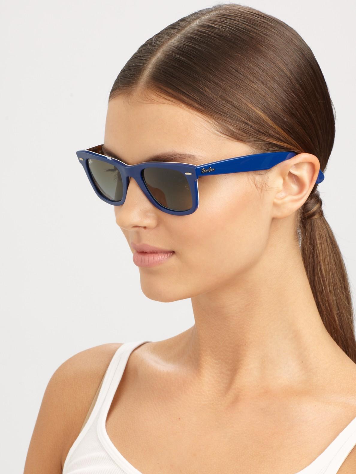 classic wayfarer  Ray-ban Classic Wayfarer Guitar Print Sunglasses in Blue